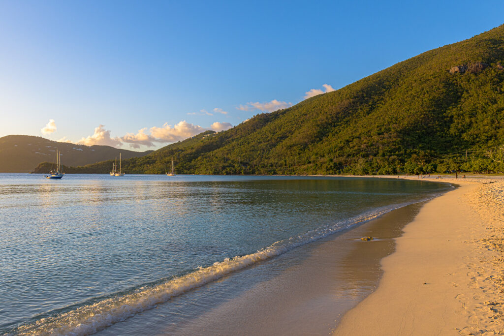 Shoreline at Brewer's Beach in St. Thomas, US Virgin Islands